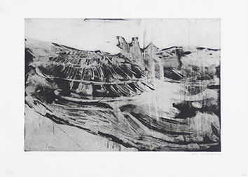 Original signed etching de  : Composition without title VIII