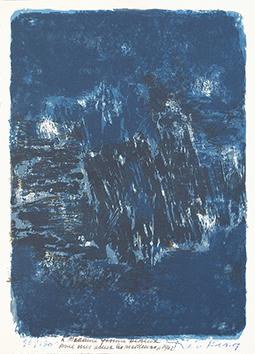 Lithographie originale signée de  : Composition V
