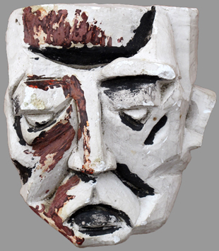 Mastroianni Umberto : Original signed sculpture : Mask
