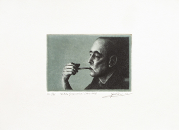 Original signed drypoint de  : Witold Gombrowicz