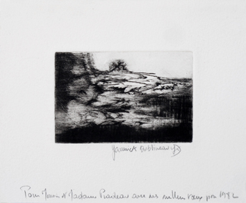 Signed etching aquatint de  : Without title, Greeting 1982