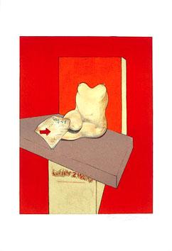 Bacon Francis : Lithographie : Etude... d'après Ingres