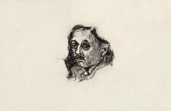 Bonnard Pierre : Gravure originale : Autoportrait