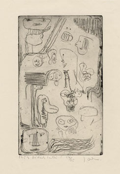 Jorn Asger : Gravure originale : Détails taillés
