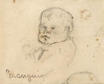 Manguin Henri : Dibujo original : Joven ni�o