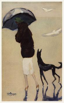 Van Dongen Kees : Estampe : Femme avec... plage