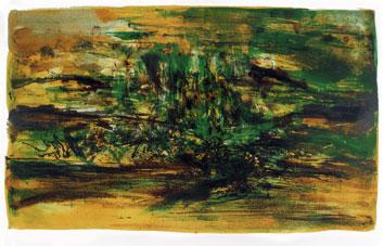 Zao Wou Ki : Lithographie signée : Composition IV