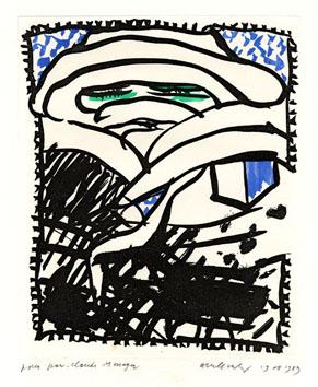 Alechinsky Pierre : Gravure : Les portes de craie