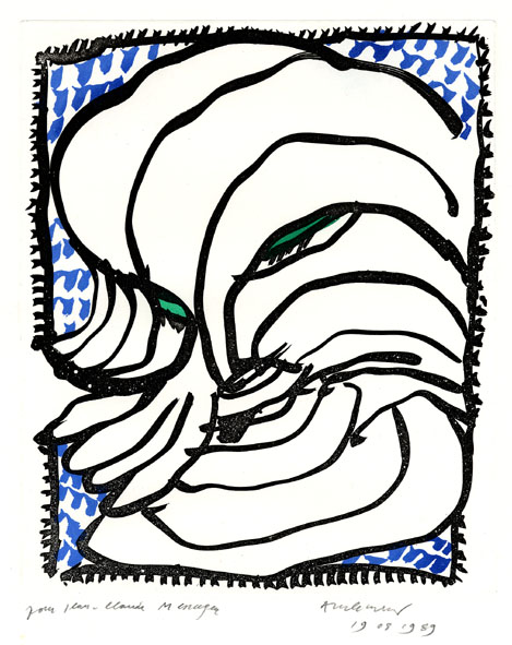 Alechinsky Pierre : Eau-forte : Les portes de craie