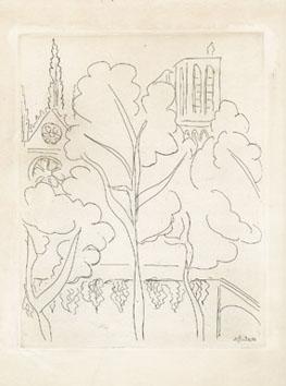 Matisse Henri : Gravure : Cité, Notre Dame