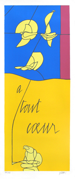 Original signed screenprint de  : A tout coeur