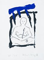 Signierte Originallithographie de  : Titel unbekannt VI