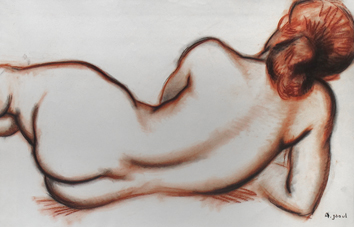 Signed drawing de  : Study of a nude IV