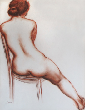 Signed drawing de  : Study of a nude VI