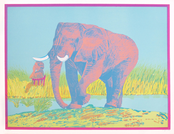 Original signed lithograph de  : Elephant III