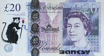 Document imprimé de  : Billet de 20 £ « Banksy Dismaland » II