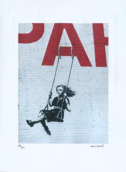 Stampa de  : Nina en columpio en un PARK-ing