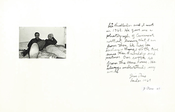Etching signed de Dine Jim : With Lee Friedlander