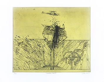 Gravure originale signée de  : Malabar Mundi
