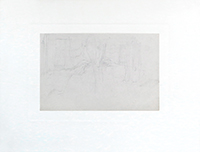 Drawing in pencil de Kupka Frantisek : Composition I
