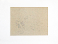 Drawing in pencil de Kupka Frantisek : Composition II, Study drawing for Mallarmé