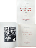 Book with print de  : Conquête du Silence