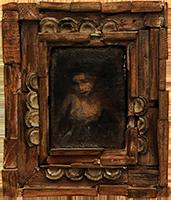 Original signed painting de  : Portrait of a woman