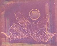 Signierte Original-Aquarell de  : Abstrakte Komposition XI