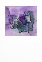 Signierte Original-Aquarell de  : Abstrakte Komposition XII