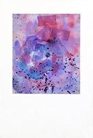 Original signed watercolour de  : Abstract composition XIV