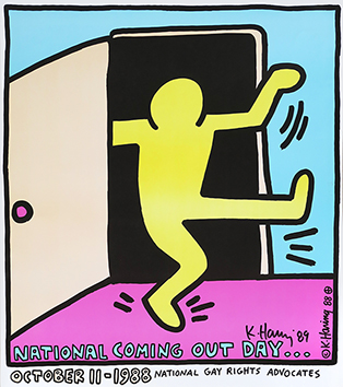 Signiertes Lithographieplakat de  : National Coming Out Day