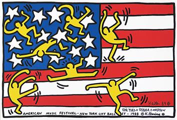 Affiche originale signée de  : American Music Festival