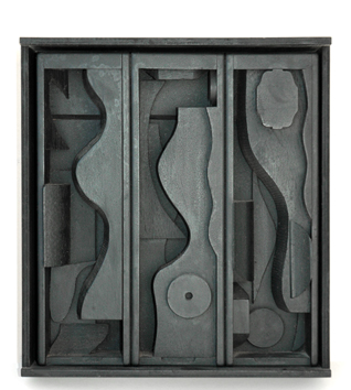 Multiple sculpture de Nevelson Louise : Night blossom