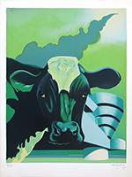 Original signed lithograph de  : Cow II