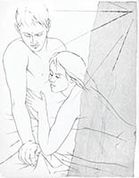 Gravure originale de  : Couple II