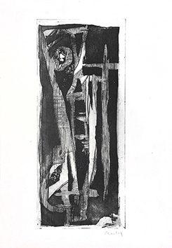 Original etching aquatint de Chastel Roger : Without title II