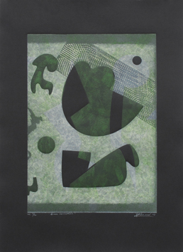 Original signed drypoint de Elvieri Vladimiro : Green revolution