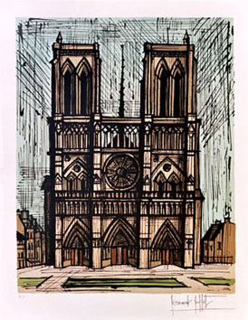 Buffet Bernard : Lithographie : Notre Dame de Paris