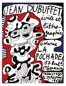 Dubuffet Jean : Lithographie originale : La Pochade