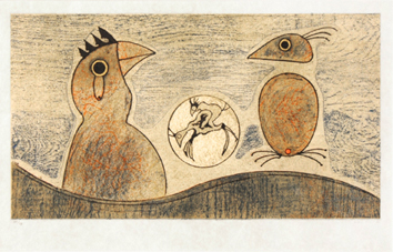 Original lithograph de  : The birds