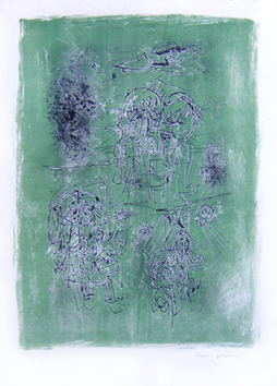 Jorn Asger : Lithographie : Huit Lithographies I