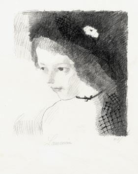 Laurencin Marie : Lithographie originale sign�e : Suzanne