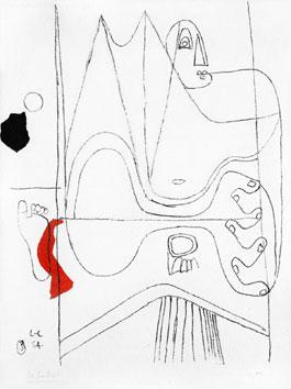 Le Corbusier : Lithographie originale signée : Icon 8