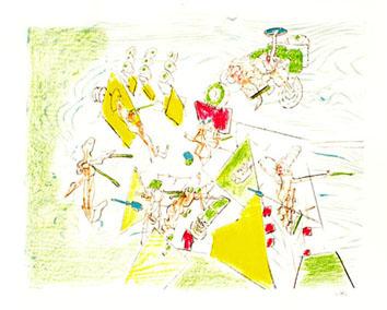Matta Roberto : Lithographie originale signée : Falbala