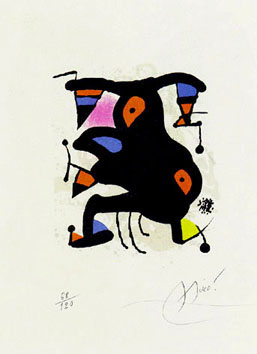 Miro Joan : Litografia : Lettre dite du voyant