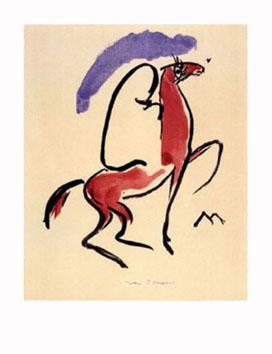 Van Dongen Kees : Lithographie : Le cavalier arabe