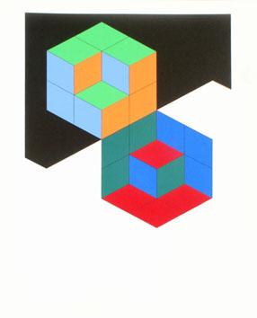 Vasarely Victor : Sérigraphie originale : Titre inconnu