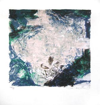 Zao Wou Ki : Lithographie signée : Sans titre II