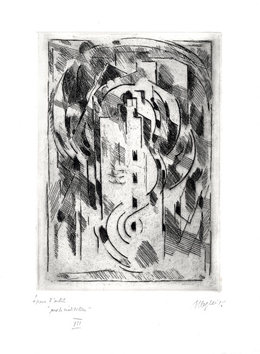Original signed etching de Gleizes Albert : Pour la méditation I