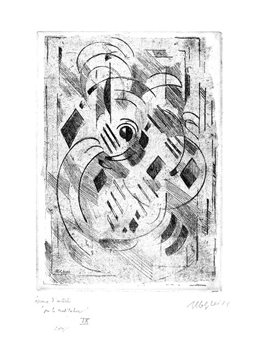 Original signed etching de Gleizes Albert : Pour la méditation IV